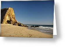 Point Dume At Zuma Beach Greeting Card