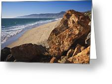 Point Dume Overlooking Zuma Beach Greeting Card