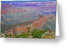 Point Imperial On North Rim Of Grand Canyon National Park-arizona   Greeting Card