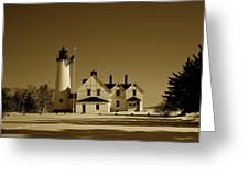 Point Iroquois Light Station Greeting Card