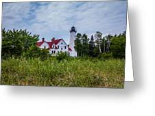 Point Iroquois Lighthouse Greeting Card