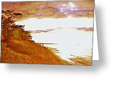 Point Iroquois Pano Sunset Greeting Card