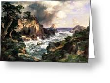 Point Lobos Monterey California Greeting Card by Thomas Moran