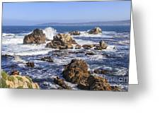 Point Lobos Rocks And Waves Greeting Card