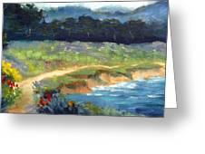 Point Lobos Trail Greeting Card by Karin  Leonard