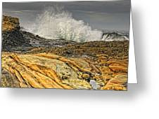 Point Lobos Wave Greeting Card