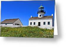 Point Loma Lighthouse By Diana Sainz Greeting Card