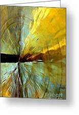 Point Of Impact In Copper And Green2 Greeting Card