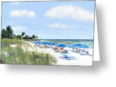 Point Of Rocks On Siesta Key Greeting Card by Shawn McLoughlin