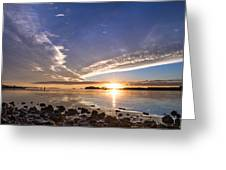 Point Of The Sunset Greeting Card