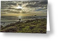 Point Piedras Blancas Sunset 1 Greeting Card