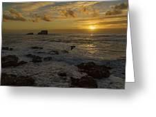 Point Piedras Blancas Sunset Greeting Card