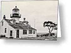 Point Pinos Lighthouse By Diana Sainz Greeting Card