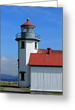 Point Robinson Light House Greeting Card