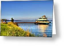 Point Ruston Ship Greeting Card
