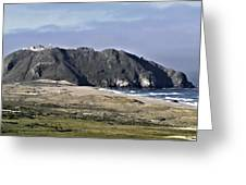 Point Sur And Lighthouse Greeting Card
