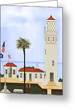 Point Vicente Lighthouse Greeting Card by Anne Norskog