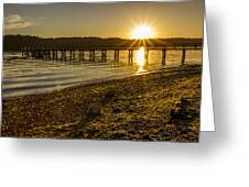 Point White Sunset Greeting Card
