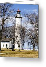 Pointe Aux Barques  Lighthouse Greeting Card
