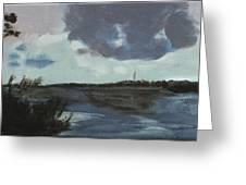 Pointe Aux Chein Blue Skies Greeting Card