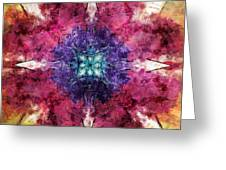 Pointed Star Flower Watercolor Greeting Card