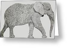 Pointillism Elephant Greeting Card