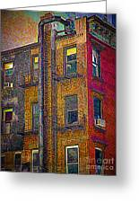 Pointillism In Steel And Brick Greeting Card
