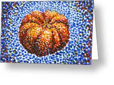 Pointillism Pumpkin Greeting Card