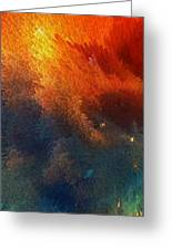 Points Of Light Abstract Art By Sharon Cummings Greeting Card