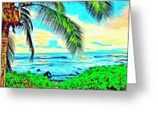 Poipu Sunrise Greeting Card