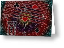 Poker Addiction Digital Painting Greeting Card
