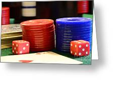 Poker Chips Greeting Card by Paul Ward