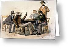 Poker Game, 1840s Greeting Card