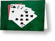 Poker Hands - Dead Man's Hand 2 V.2 Greeting Card
