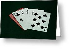 Poker Hands - Dead Man's Hand Greeting Card