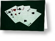 Poker Hands - High Card 4 Greeting Card