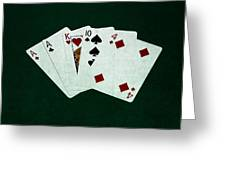 Poker Hands - One Pair 1 Greeting Card