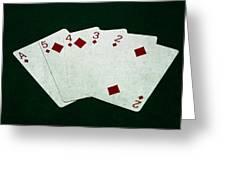 Poker Hands - Straight Flush 4 Greeting Card