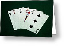 Poker Hands - Three Of A Kind 1 Greeting Card