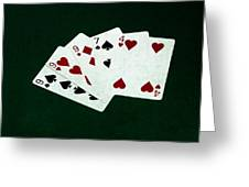 Poker Hands - Three Of A Kind 2 Greeting Card