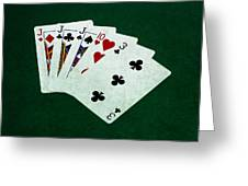 Poker Hands - Three Of A Kind 3 Greeting Card