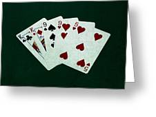 Poker Hands - Two Pair 1 Greeting Card