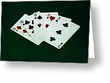 Poker Hands - Two Pair 4 Greeting Card