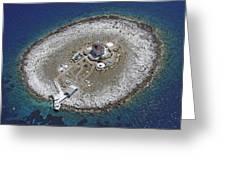 Pokonji Dol Lighthouse From Air Greeting Card