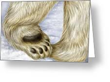 Polar Bear Paw Greeting Card
