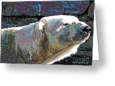 Polar Bear With Enameled Effect Greeting Card