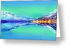 Polar Lights Aurora Borealis Or Just Haven Greeting Card