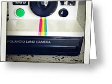 Polaroid Camera.  Greeting Card