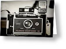Polaroid Countdown 90 Greeting Card