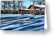 Pole Barns In The Winter Greeting Card